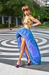 <p>A model showcases one of Dontarius Clyburn's recent designs.</p>