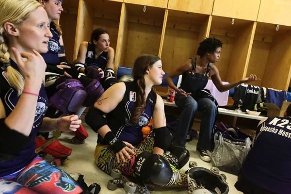 A peek into halftime at the Charlotte Roller Girls' May 17 game - MERT JONES