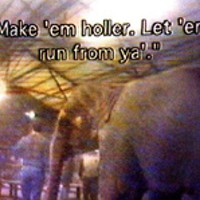 A shot from the videotape, provided by PETA, of Tim      Frisco training elephants at his family's facility in      Oklahoma.