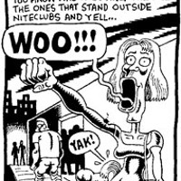 """A stereotypical """"Woo Girl"""" from The City comic      strip"""