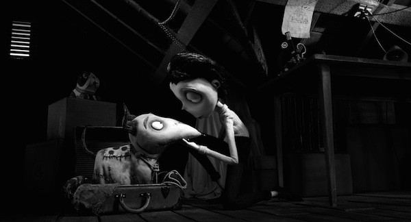 A STITCH IN TIME: Victor (Charlie Tahan) is able to patch up his dead dog and bring him back to life in Frankenweenie. (Photo: Disney)