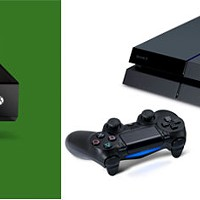 A TALE OF TWO SYSTEMS: Both the Xbox One (top) and Playstation 4 will be released at year's end.