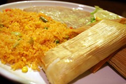 CATALINA KULCZAR - A TASTE OF MEXICAN HERITAGE: Tamales steamed in corn husks with rice and beans.