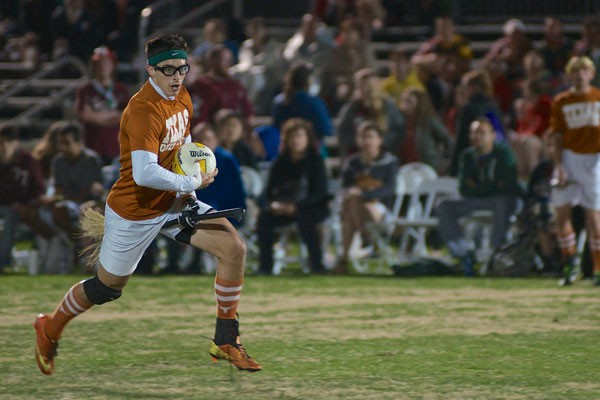 A Texas Quidditch player at the 2014 World Cup - MICHAEL E. MASON