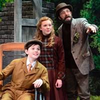 A WONDROUS SIGHT: Colin (Sam Faulkner), Mary (Katlyn Gonzalez) and Ben the gardener (Mark Sutton) admire The Secret Garden.