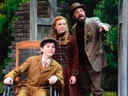 DONNA BISE / CTC - A WONDROUS SIGHT: Colin (Sam Faulkner), Mary (Katlyn Gonzalez) and Ben the gardener (Mark Sutton) admire The Secret Garden.