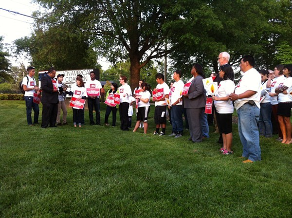 About 50 showed up for Latin American Coalition vigil