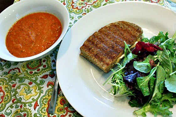 Add a goat cheese panini and a green salad to complete your meal.