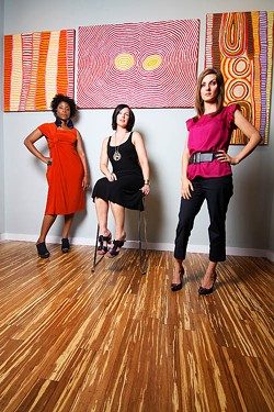 JASIATIC - ADORNING DIVAS: (from l to r) Tara Davis, Laura James, Emily Clark