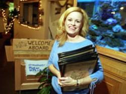 RADOK - AHOY! Captain Steve's Family Seafood Restaurant - manager Kelly Gardner welcomes you aboard.