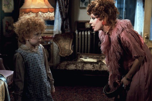 Aileen Quinn and Carol Burnett in Annie (Photo: Columbia)