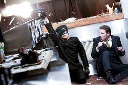 JAIMIE TRUEBLOOD / COLUMBIA - AIM HIGH: Jay Chou and Seth Rogen in The Green Hornet