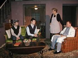 BOB TULLY - Alex Brightwell, Austin Boykin, Stephanie Howieson and Scott O'Dell in Brighton Beach Memoirs