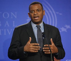 CHIP EAST/REUTERS/NEWSCOM - ALL ABOARD: In 2010 Mayor Anthony Foxx backed the city's unfinished trolley line.