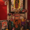Preparing an Altar for Dia de los Muertos (Day of the Dead)