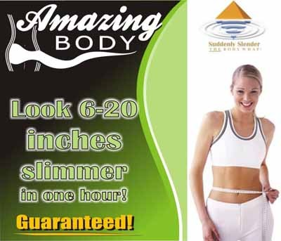 Amazing Body - Get wrapped like the stars! Suddenly Slender electrolyte mineral body wrap can make you 6-20 inches smaller in one hour!! Gift certificates available. - 5107 Piper Station Drive, Ste E. 704-531-0077 - www.amazingbodyspa.com - Credit cards accepted