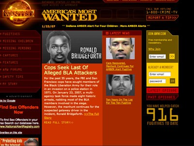 America's Most Wanted Web site