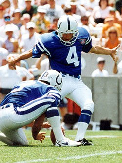 ...and as former placekicker with the Indianapolis Colts. - WWW.COLTS.COM ---