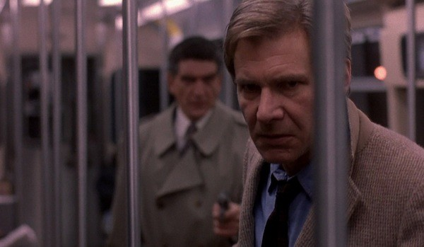 Andreas Katsulas (background) and Harrison Ford in The Fugitive (Photo: Warner Bros.)