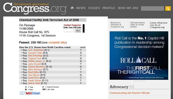 AntiTerrorism Vote 110609