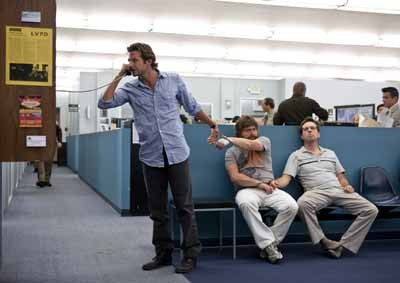 ARRESTED DEVELOPMENT: Bradley Cooper, Zach Galifianakis and Ed Helms in The Hangover. (Photo: Warner)