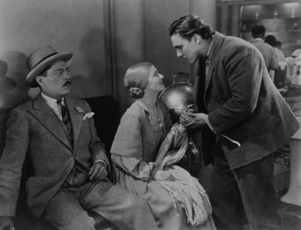 Arthur Housman, Janet Gaynor and George O'Brien in Sunrise (Photo: Fox)