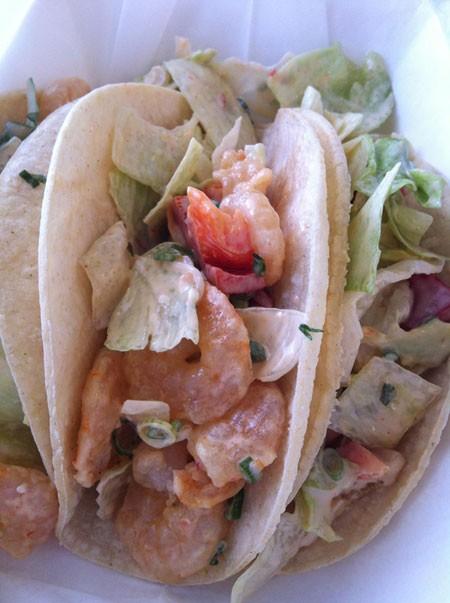 Bang Bang Shrimp Tacos from Maki Taco