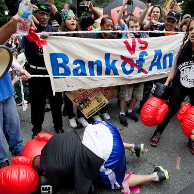 Bank of America shareholder meeting protest, 5/9/12