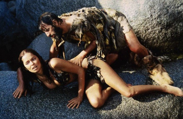 Barbara Bach and Ringo Starr in Caveman (Photo: Olive Films)