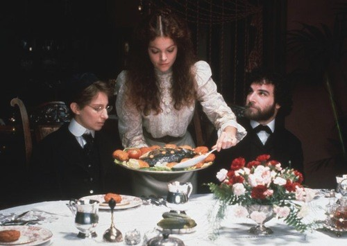 Barbra Streisand, Amy Irving and Mandy Patinkin in Yentl (Photo: Twilight Time)