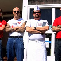 BARING ARMS AND BEARING FOOD: (l-r) Diamond owners John Fuller, Brian Rowe, Andy Kastanas and Jimmy King might have a jewel in Plaza Midwood's crown.