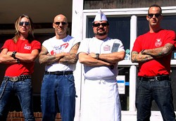 JASIATIC - BARING ARMS AND BEARING FOOD: (l-r) Diamond owners John Fuller, Brian Rowe, Andy Kastanas and Jimmy King might have a jewel in Plaza Midwood's crown.