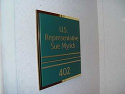 KAREN SHUGART - BEHIND CLOSED DOORS: The super-secret office of Sue Myrick.