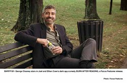 FOCUS FEATURES - BENCH WARMER: George Clooney in Burn After Reading.