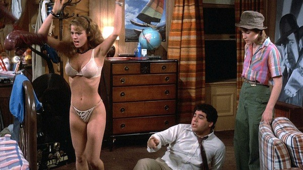 Betsy Russell, Michael Zorek and Kathleen Wilhoite in Private School (Photo: Universal)