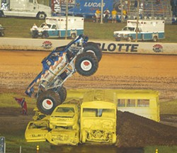 LOWE'S MOTOR SPEEDWAY - Beware the Monster trucks at Lowe's Motor Speedway on Saturday.