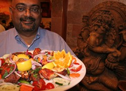 CATALINA KULCZAR - Bhupen Engineer, owner of Bombay Cuisine in the university area, and his wares