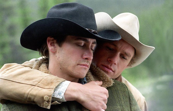 BLAZING SADDLES: Jake Gyllenhaal and Heath Ledger star in Brokeback Mountain, a conventional love story with a twist. (Photo: Focus Features)