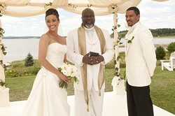TRISTAR PICTURES - BLESSED UNION: Paula Patton, TD Jakes and Laz Alonso in Jumping the Broom