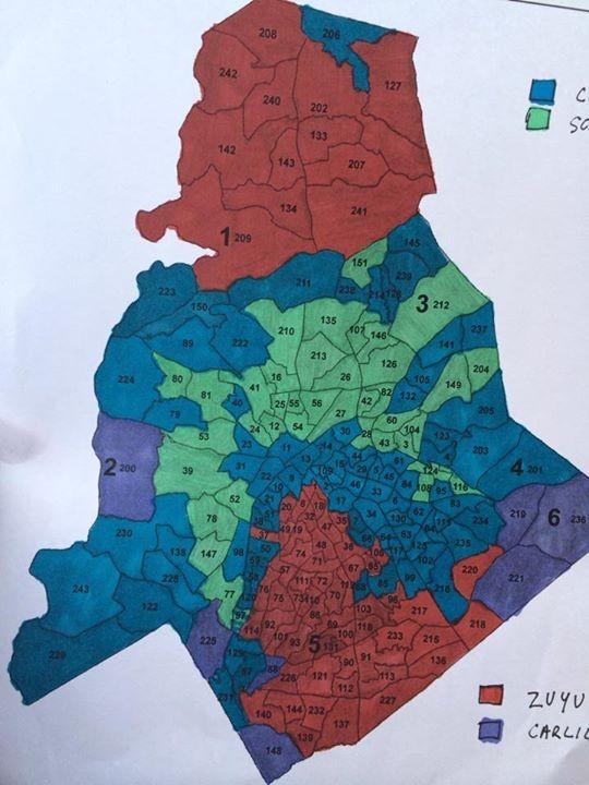 Blue: Pat Cotham; Green: Ella Scarborough; Red: Emily Finison Zuyus; Purple: Scott Carlisle