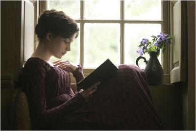 BOOK CASE: Becoming Jane centers on an episode in the life of literary giant Jane Austen (Anne Hathaway). - COLM HOGAN / MIRAMAX