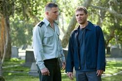 FRANÇOIS DUHAMEL / PARAMOUNT - BOYS, DON'T DIE: Steve (Channing Tatum, left) and Brandon (Ryan Phillippe) mourn fallen comrades in Stop-Loss.
