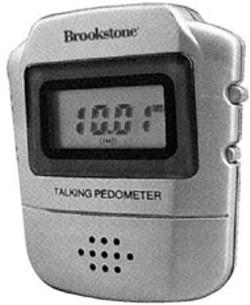 Brookstone's Talking Pedometer
