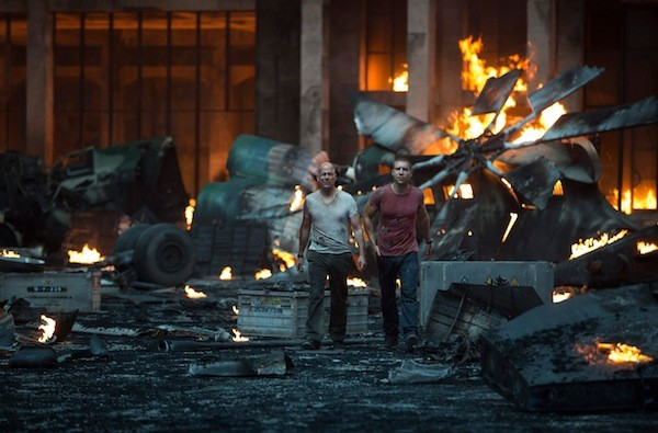 Bruce Willis and Jai Courtney in A Good Day to Die Hard (Photo: Fox)