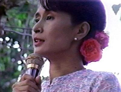 Burmese political activist Aung San Suu Kyi