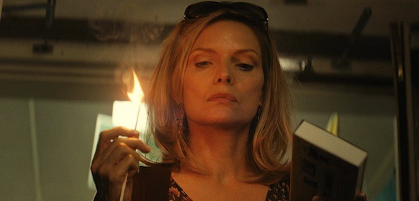 BURN, BABY, BURN: Michelle Pfeiffer lights up the screen in The Family. (Photo: Relativity Media)