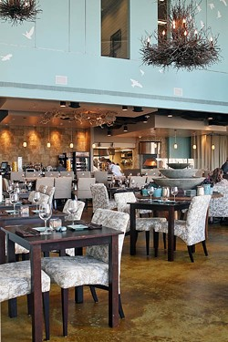ASHLEY GOODWIN - BURSTING WITH FLAVORS: A view of the Halcyon dining area