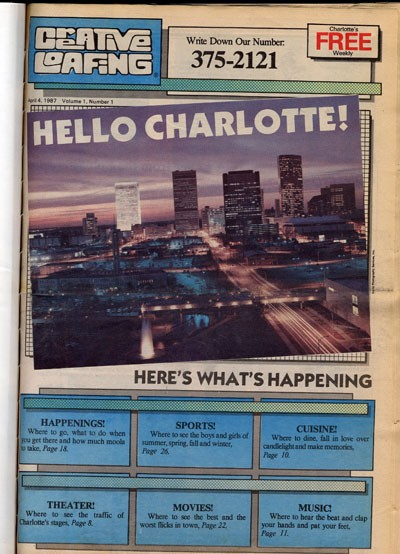 CA CHOW!: The very first issue of Creative Loafing