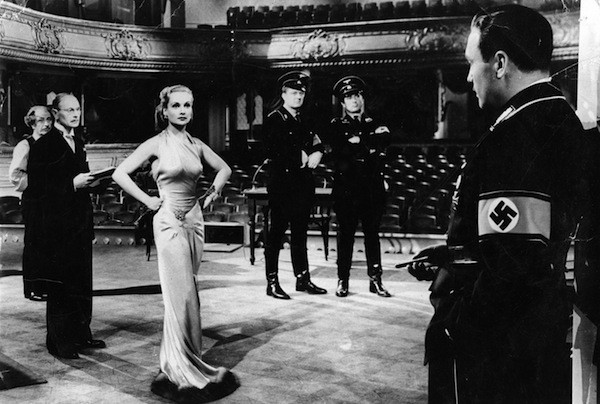 Carole Lombard and Jack Benny (far right) in To Be or Not to Be (Photo: Criterion Collection)