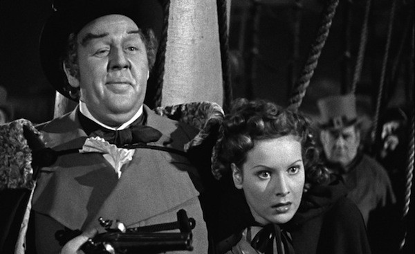 Charles Laughton and Maureen O'Hara in Jamaica Inn (Photo: Cohen Film Collection)